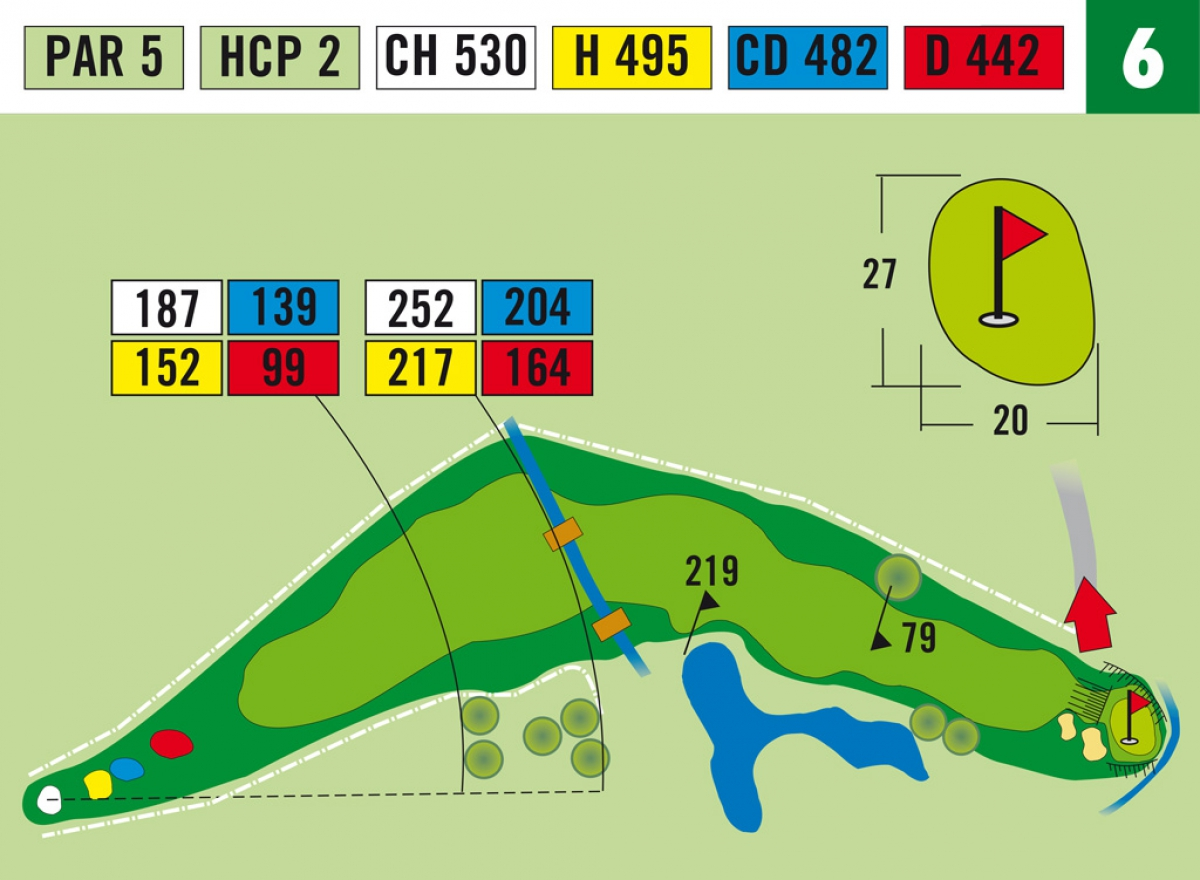Hole 17 Golfanlage Millsttter See Golf Diagram 6